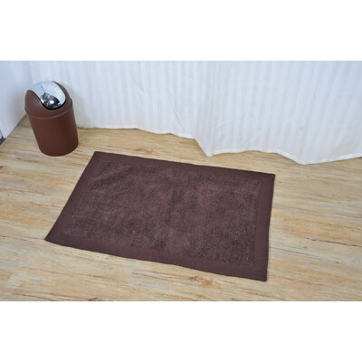 Velvet Border Bath Rug Color: Brown