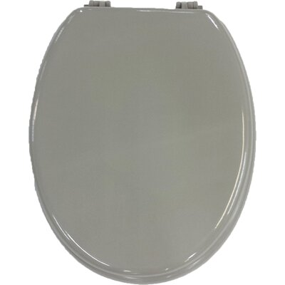 Solid Elongated Toilet Seat Color: Taupe