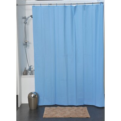 Eva Solid Shower Curtain Color: Azure Blue