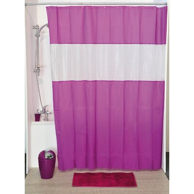 Laser Shower Curtain Color: Purple