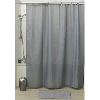 Solid Shower Curtain Color: Gray