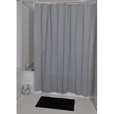 Eva Solid Shower Curtain Color: Gray