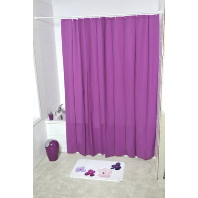 Eva Solid Shower Curtain Color: Purple