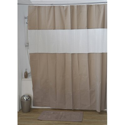 Laser Shower Curtain Color: Taupe