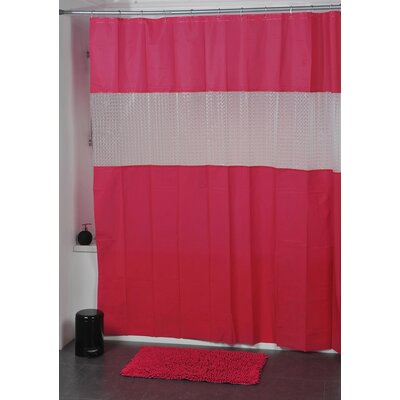 Laser Shower Curtain Color: Fuchsia