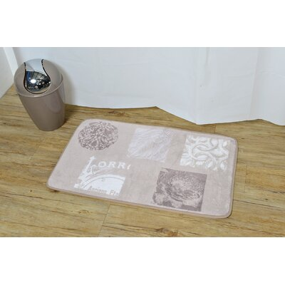 Paris Romance Non Skid Soft Bath Rug