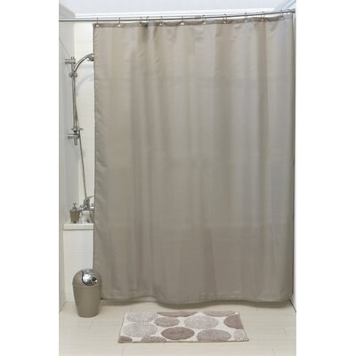 Solid Shower Curtain Color: Taupe