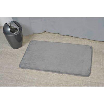 Non Skid Rectangular Bath Mat Color: Gray