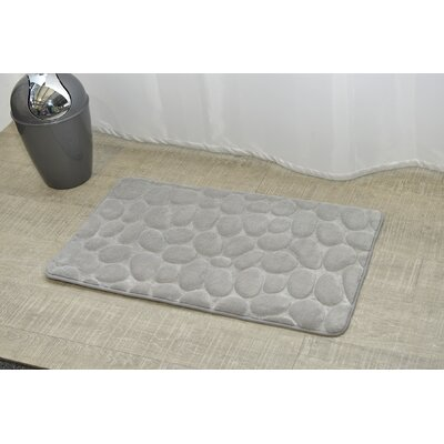 Stone Non Skid Bath Rug Color: Light Gray