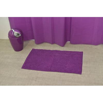 Soft Luxurious Ball Bath Rug Size: 17 x 30, Color: Purple
