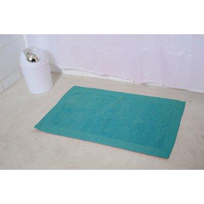 Velvet Border Bath Rug Color: Turquoise Blue