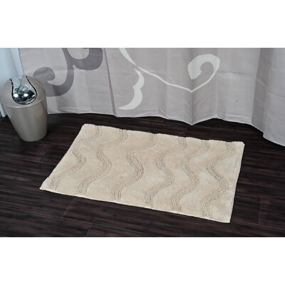 Prestige Rectangular Soft Cotton Bath Rug Color: Beige