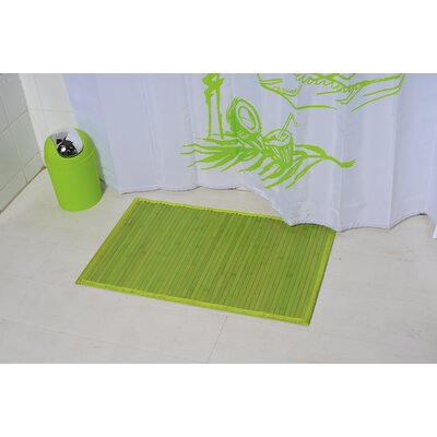 Anti Slippery Bath Mat Color: Green