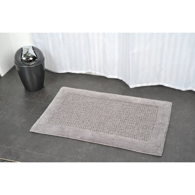 Prestige Karma Rectangular Soft Bath Rug Color: Gray