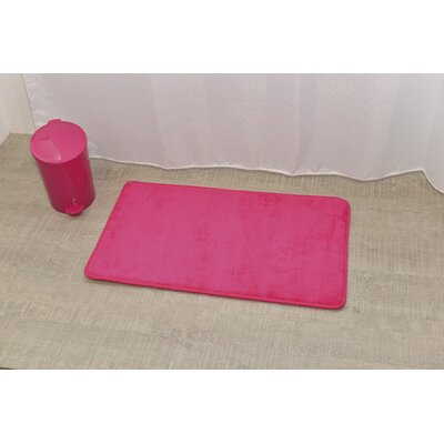 Non Skid Rectangular Bath Mat Color: Fuchsia