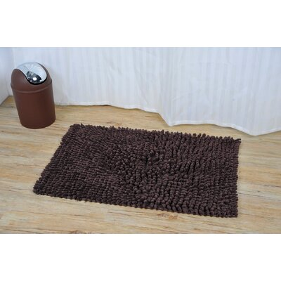Prestige Marley Rectangular Soft Bath Rug Color: Brown