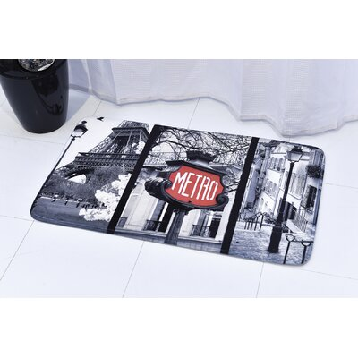 Paris Romance Printed Bath Rug Size: 23.62
