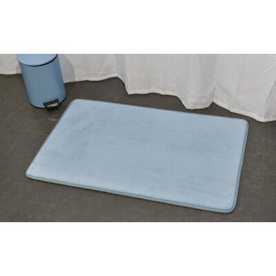 Ultra Soft Highlight Bath Rug Color: Blue