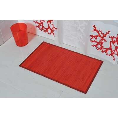 Anti Slippery Bath Mat Color: Red