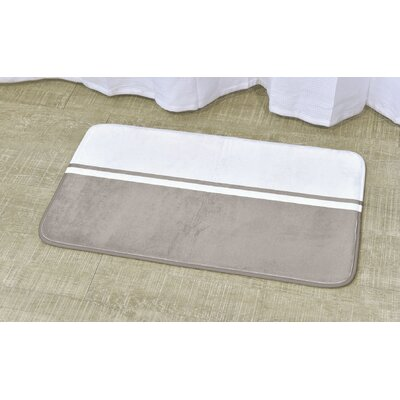 Printed Bath Rug Size: 17 x 29.5, Color: White / Taupe
