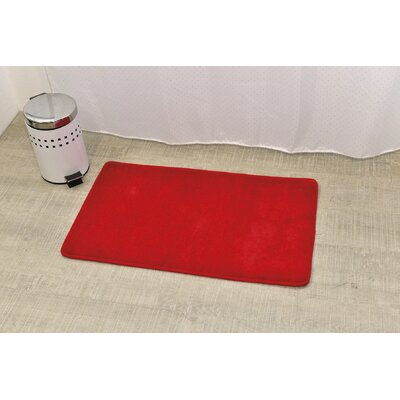 Non Skid Rectangular Bath Mat Color: Red