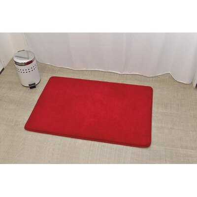 Douceur Ultra Soft Bath Rug Color: Red