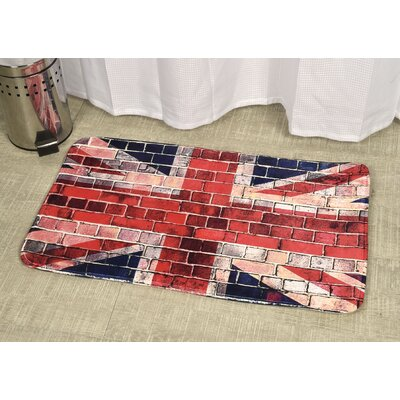 Union Jack Printed Bath Rug Size: 23.62 x 35.43