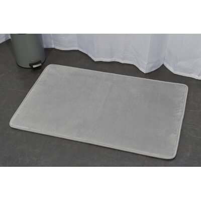 Ultra Soft Highlight Bath Rug Color: Silver