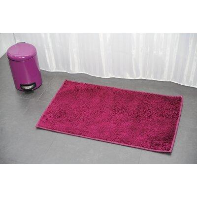 Non Skid Rectangular Bath Mat Color: Purple
