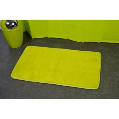 Non Skid Rectangular Bath Mat Color: Lime Green