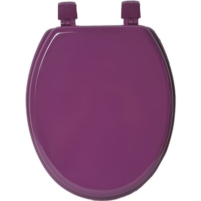 Solid Elongated Toilet Seat Color: Purple