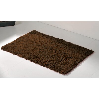 Soft Shaggy Loop Bath Rug Color: Brown