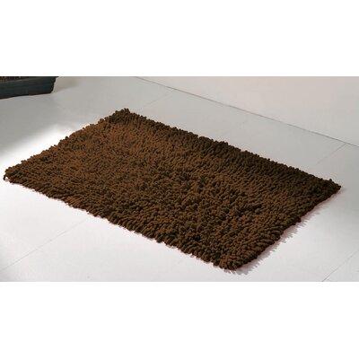 Soft Shaggy Loop Bath Rug Color: Brown