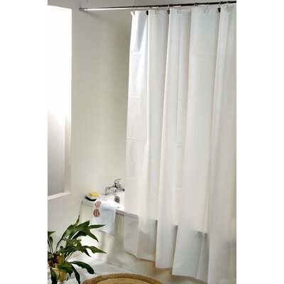 Eva Solid Shower Curtain Color: White