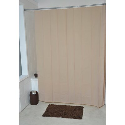 Eva Solid Shower Curtain Color: Beige