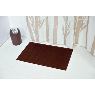 Anti Slippery Bath Mat Color: Brown