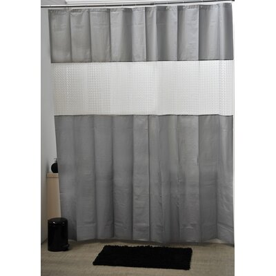 Laser Shower Curtain Color: Gray