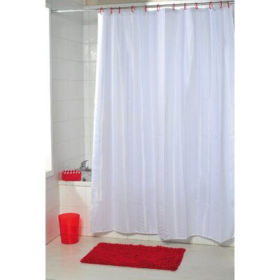 Vertical Stripes Shower Curtain Color: White