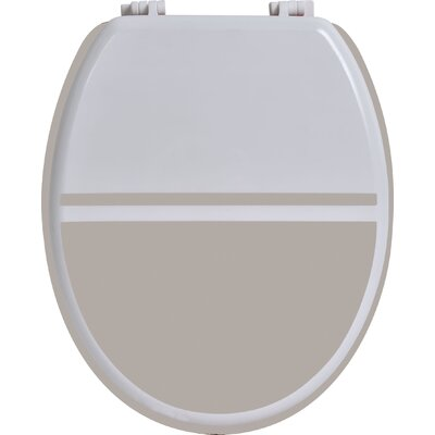 Elongated Toilet Seat Color: White / Taupe