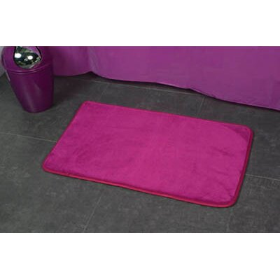 Non Skid Rectangular Bath Mat Color: Purple