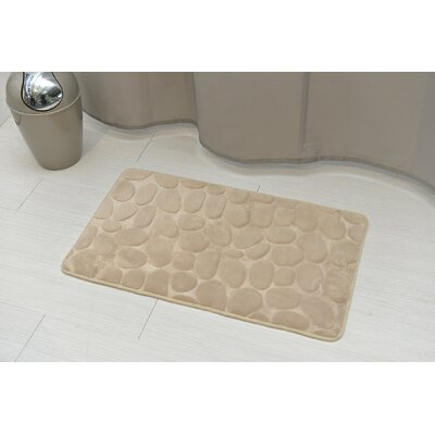 Stone Non Skid Bath Rug Color: Taupe