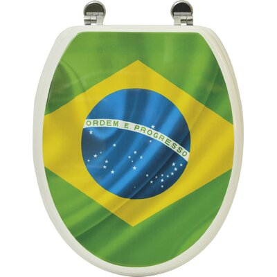 Brazil Flag Elongated Toilet Seat