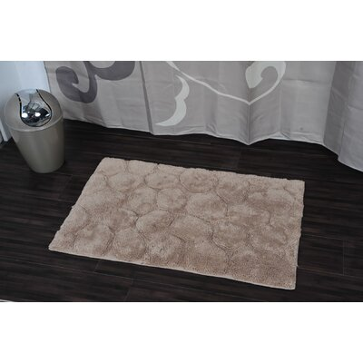 Prestige Stone Rectangular Soft Bath Rug Color: Taupe