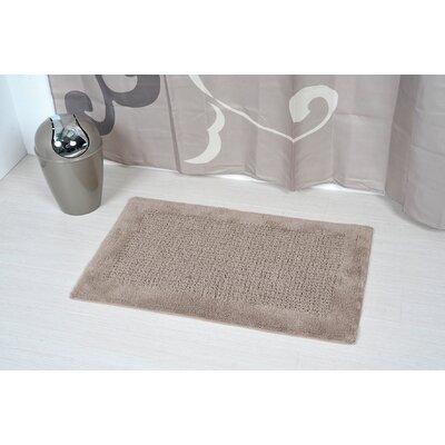 Prestige Karma Rectangular Soft Bath Rug Color: Brown