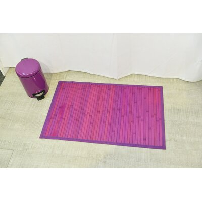 Anti Slippery Bath Mat Color: Purple