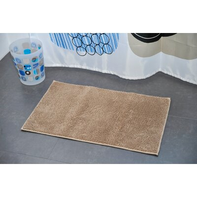 Non Skid Rectangular Bath Mat Color: Taupe
