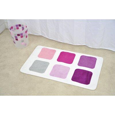 Mosaic Non Skid Print Bath Rug