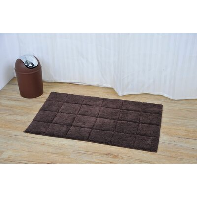 Prestige Rectangular Soft Bath Rug Color: Brown