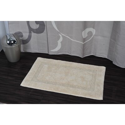 Carla Rectangular Soft Bath Rug Color: Beige