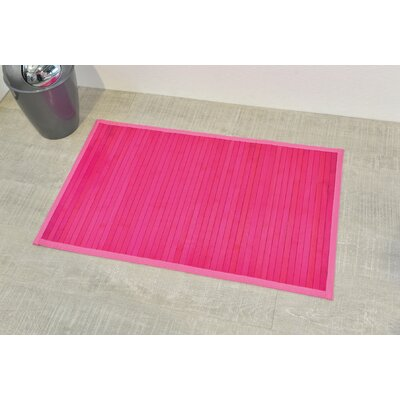 Anti Slippery Bath Mat Color: Fuchsia